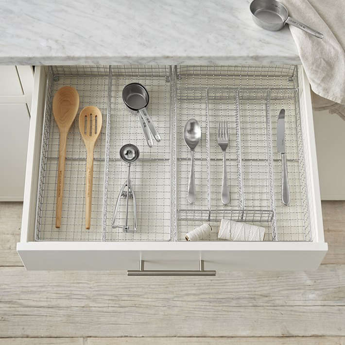 Attrayant Williams Sonoma Stainless Steel Flatware Tray