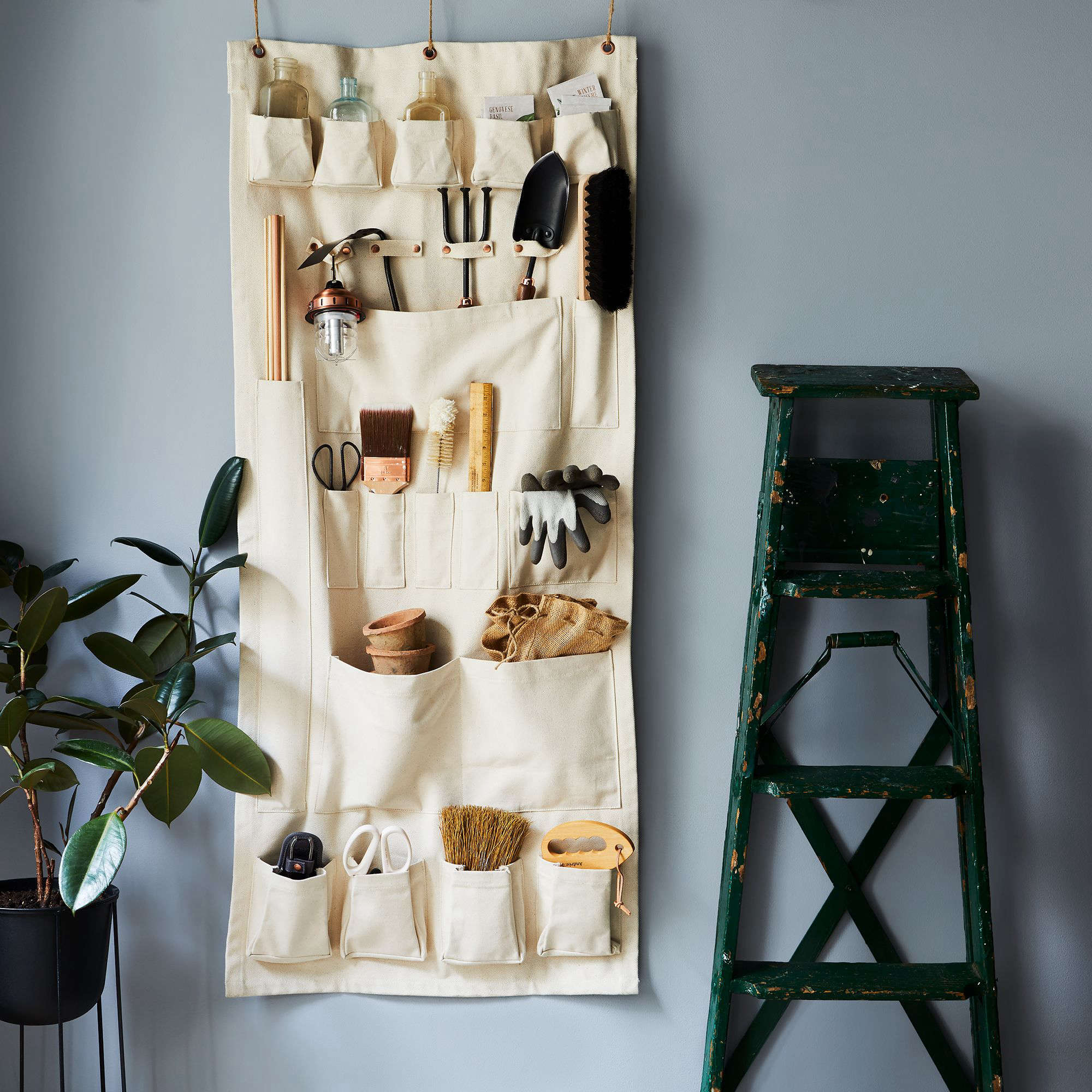 10 Easy Pieces Hanging Canvas Pocket Wall Organizers