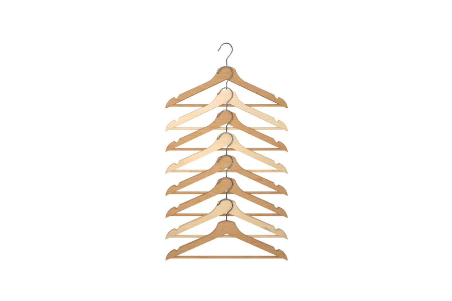 Get rid of all those flimsy wire hangers and upgrade to a uniform wooden set. An 8-pack of Bumerang Hangers is just $4.49.
