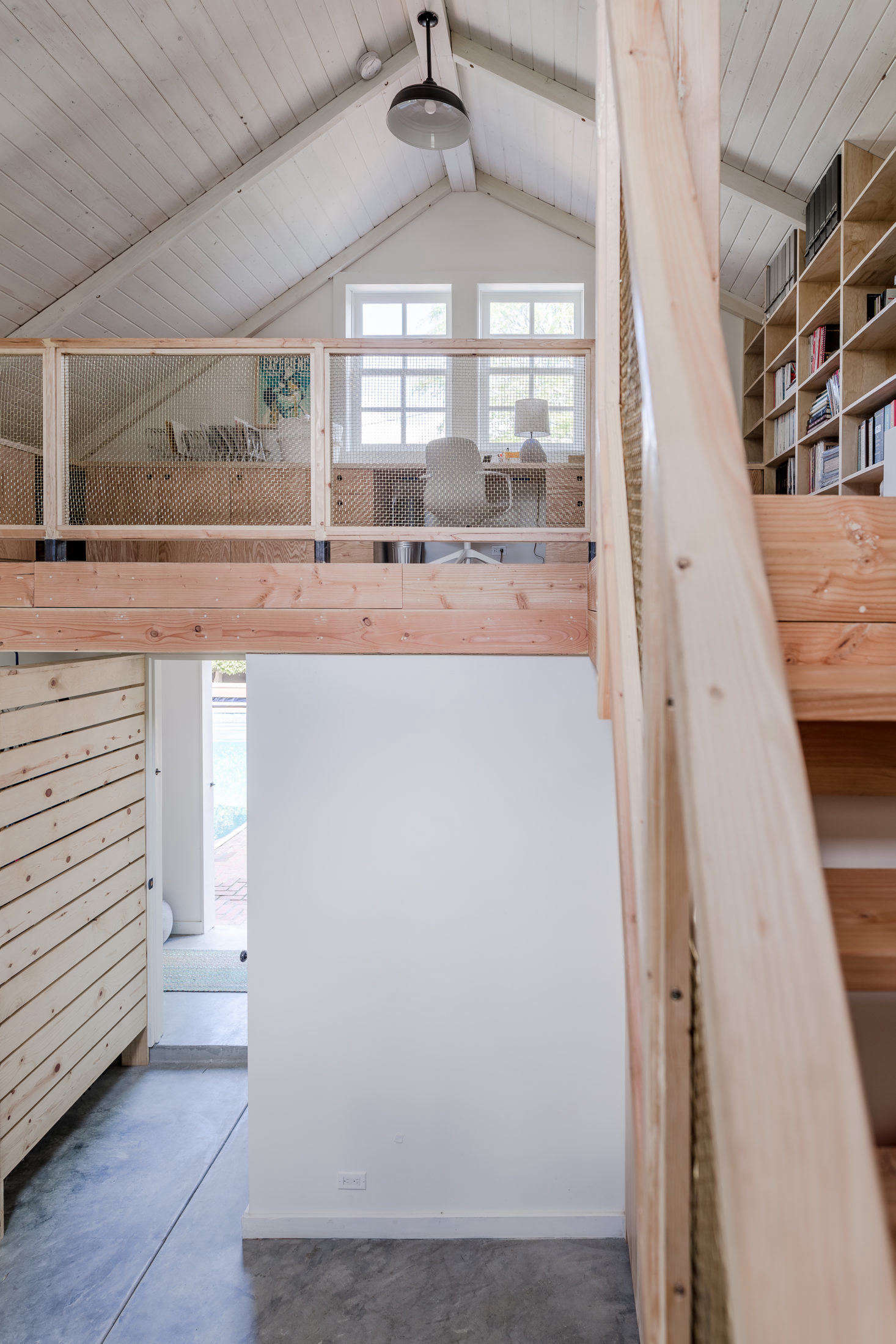 turn garage into office christine lennon guest barn garage image by stephen paul and anderson smallspace living garage conversion that prioritizes smart storage