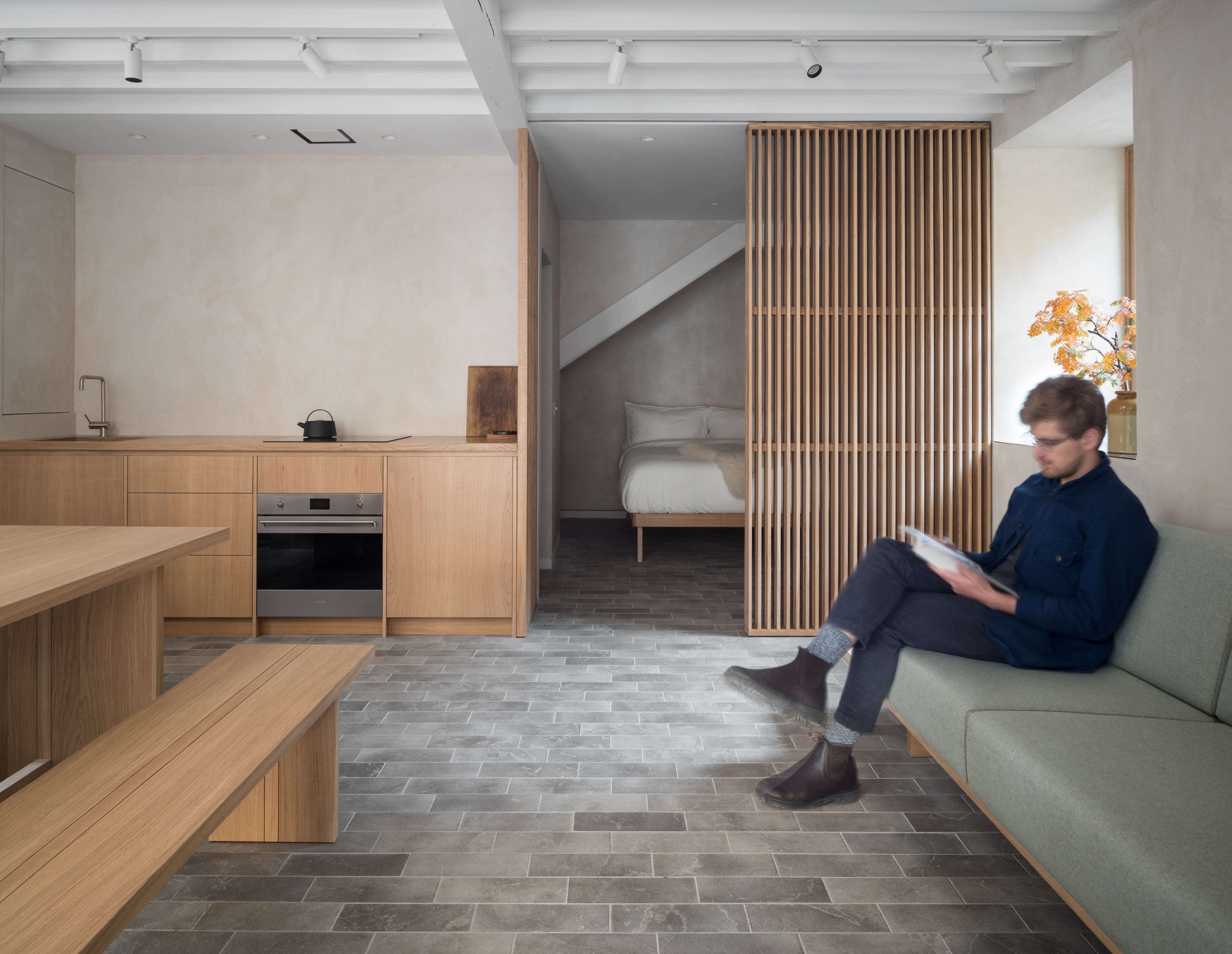 Minimalist and Miniature: A Garage Converted into a Quiet, Compact Apartment - The Organized Home