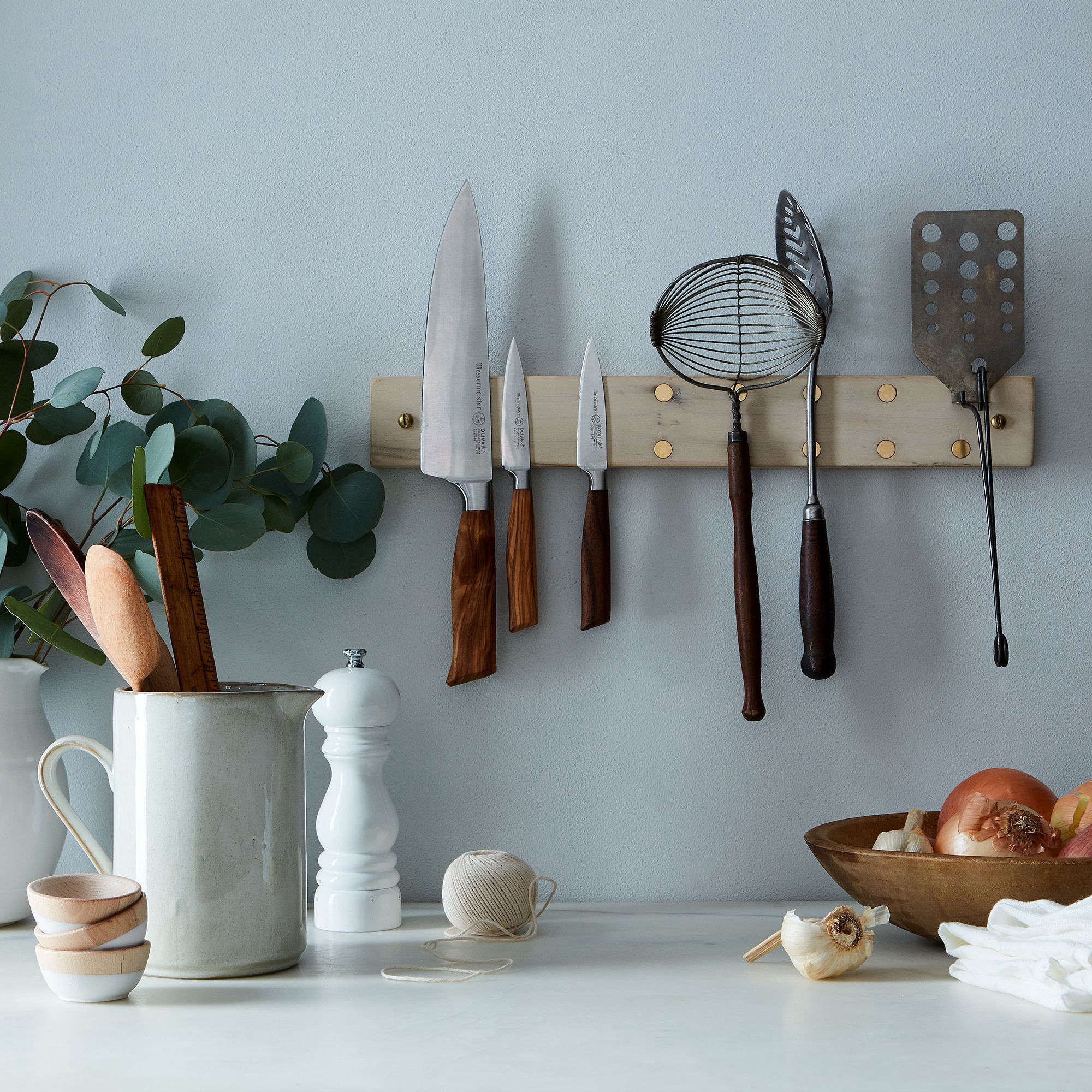 Peg & Awl Milk Paint Maple Brass Knife Grabber at Food52