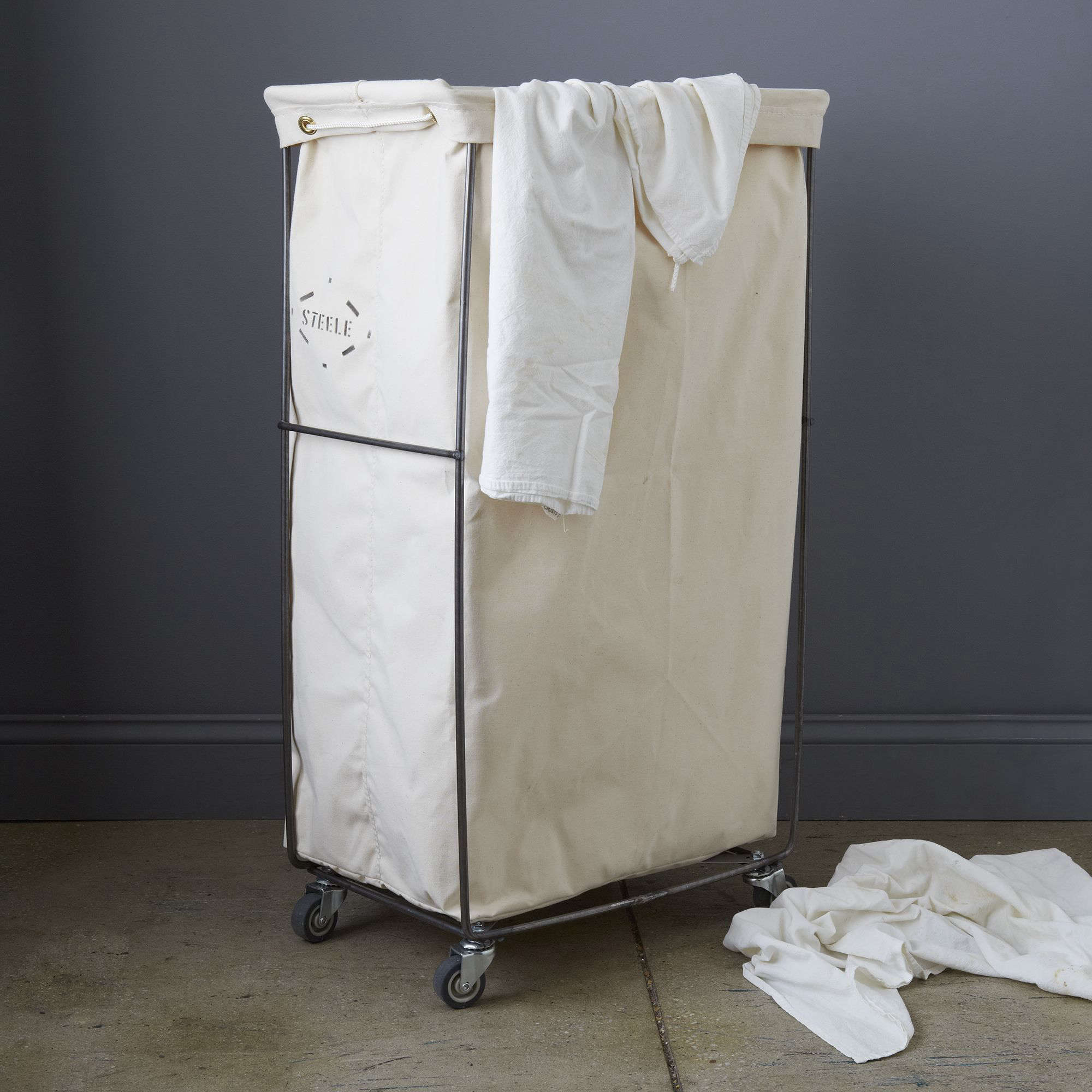 Steele Canvas Narrow Elevated Laundry Basket at Food52