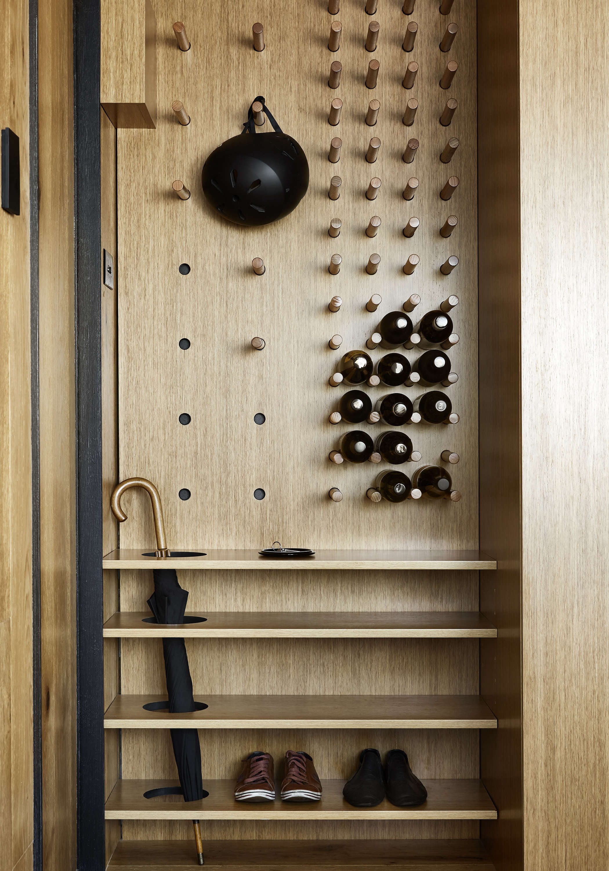 Tsai Design Type St. Apartment in Melbourne Entry Pegboard