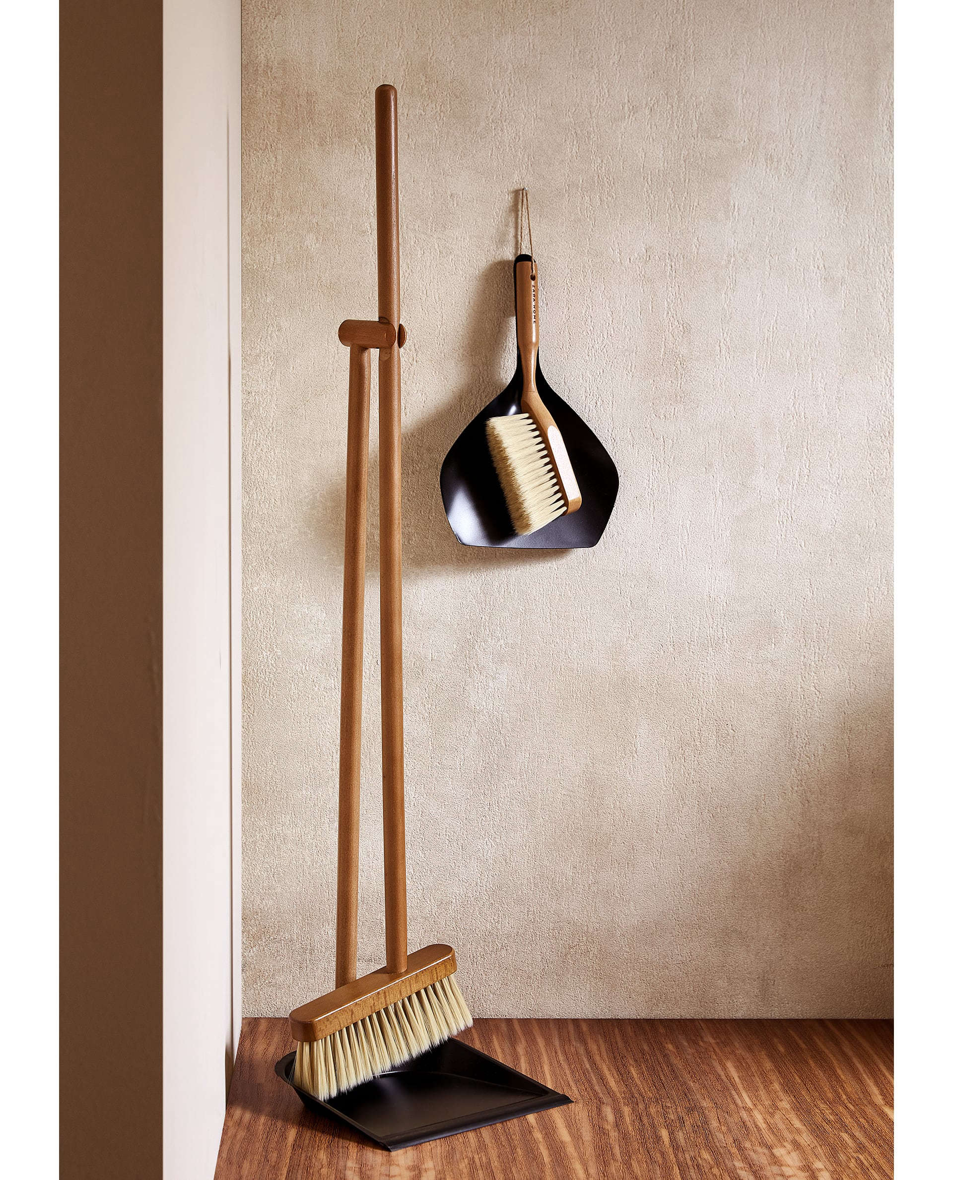Wooden Dustpan and Brush Set from Zara Home