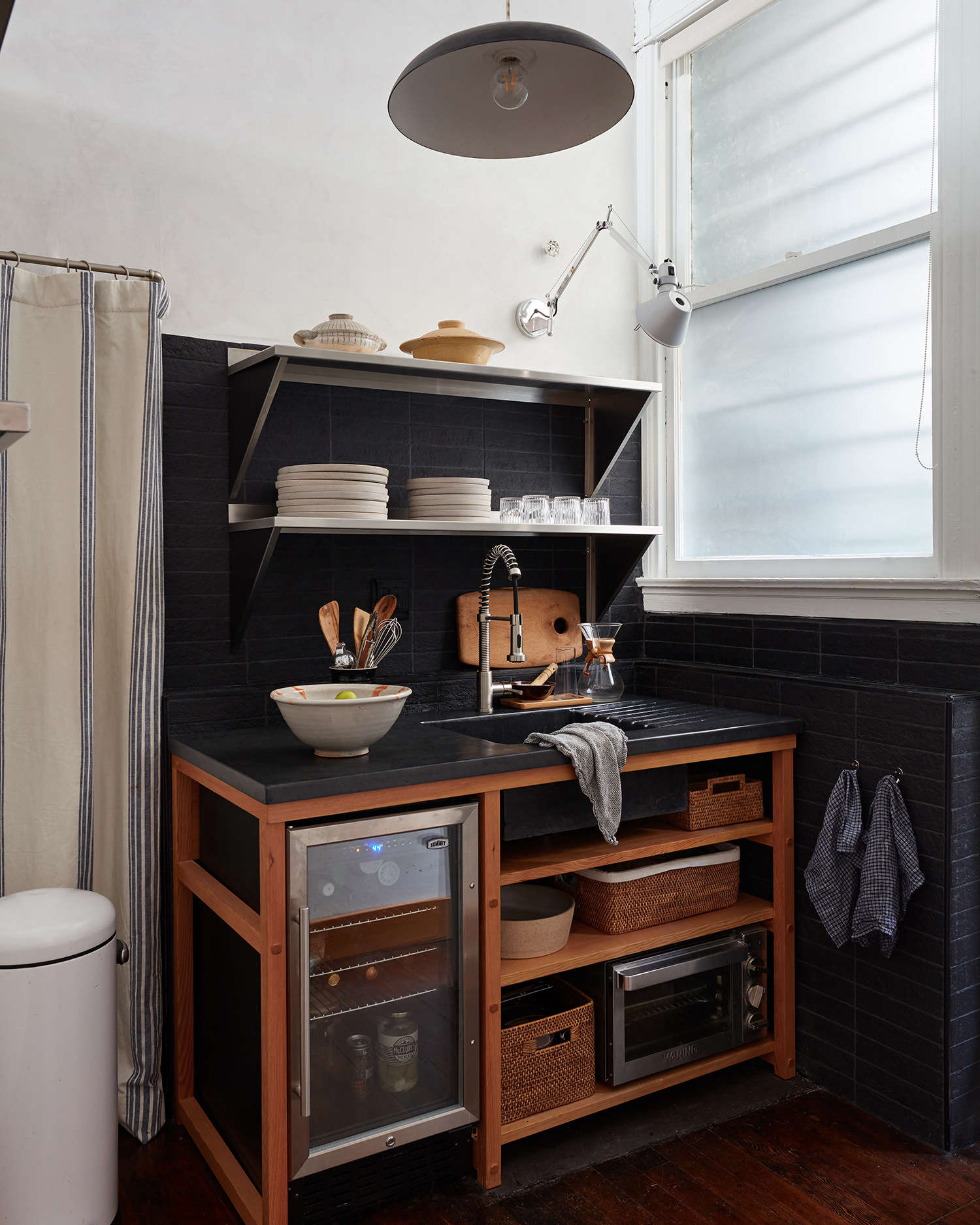Steal This Look: A Tiny, Chic Kitchenette in San Fancisco - The Organized Home